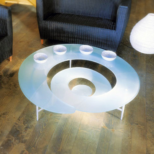 Spiral Coffee Table by Ca Nova Design Icy Frost