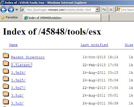 VMWare: Link para descargar cualquier versión de VMWare Tools