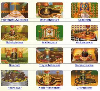 12 Jyotirlinga Temples of India