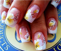 simple flower nail design  fashion week