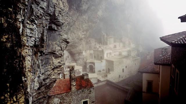 Sumela Monastery Veiled in Fog