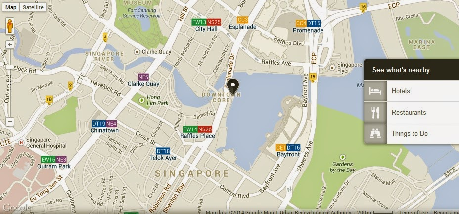 Merlion Park Singapore Location Map Alexandra Meier