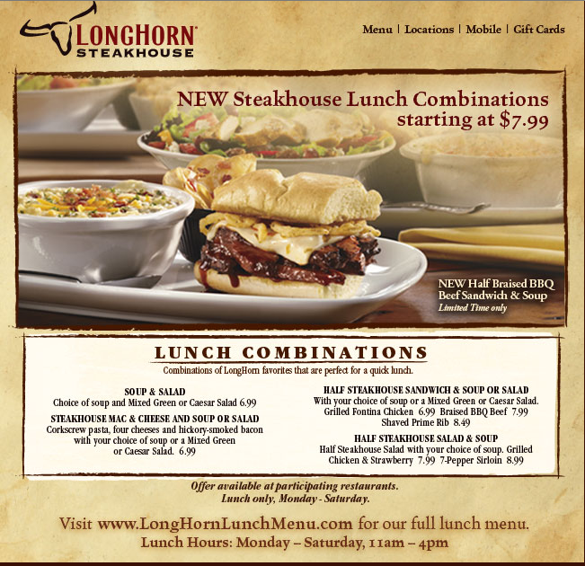 Longhorn steakhouse naples coupons