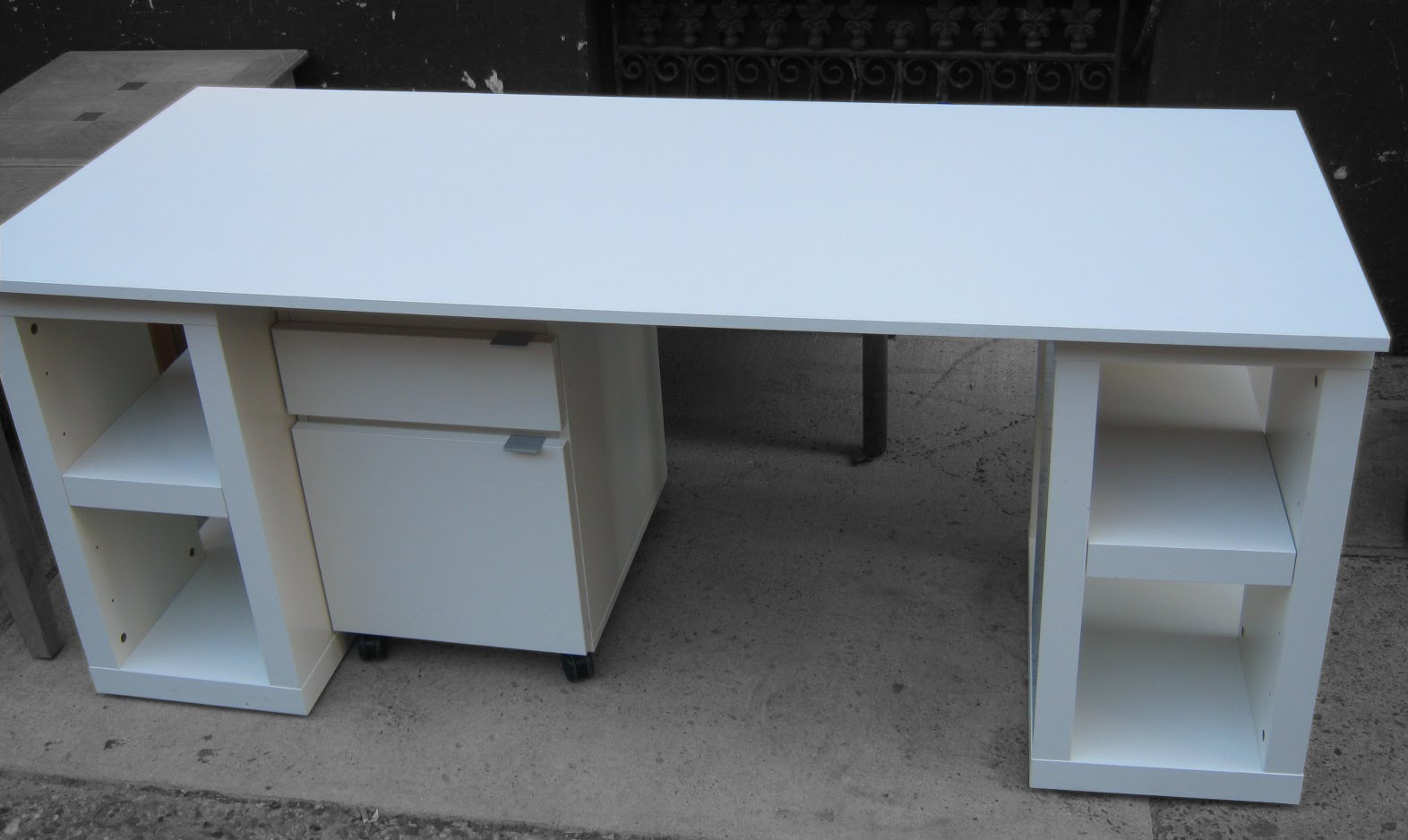 Uhuru Furniture Collectibles Ikea 4 Piece Modular Desk Sold