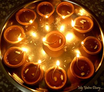 Diwali Earthen Diya plate