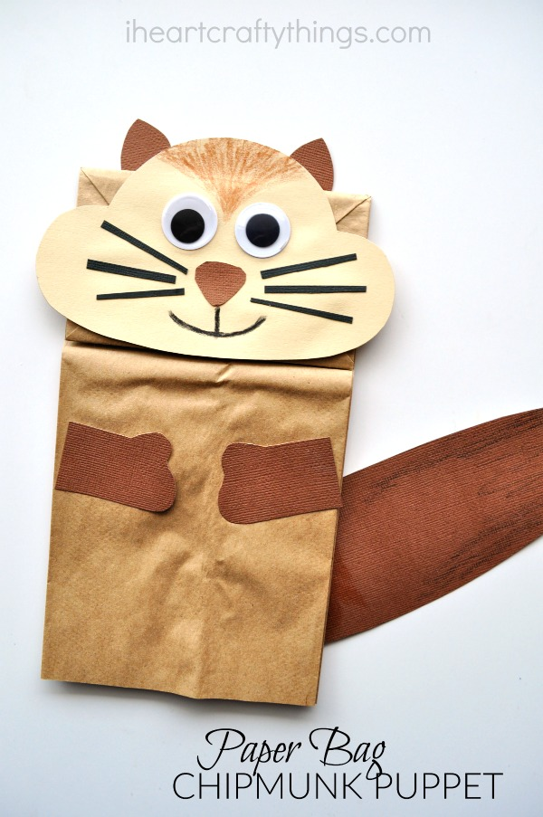 HEART CRAFTY THINGS: Paper Bag Chipmunk Kid Craft