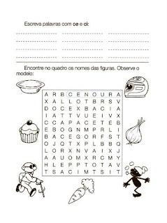 Atividades de Alfabetização - Anos Iniciais - Lista de palavras