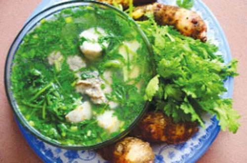 Bí quyết làm món Canh cải cúc nấu cá rô ngon