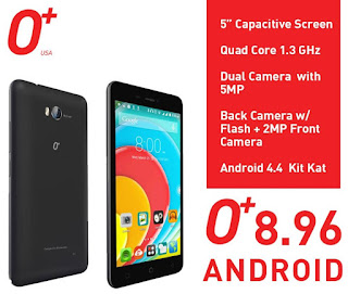 O+ 8.96, 5-inch Quad Core for Php4,395