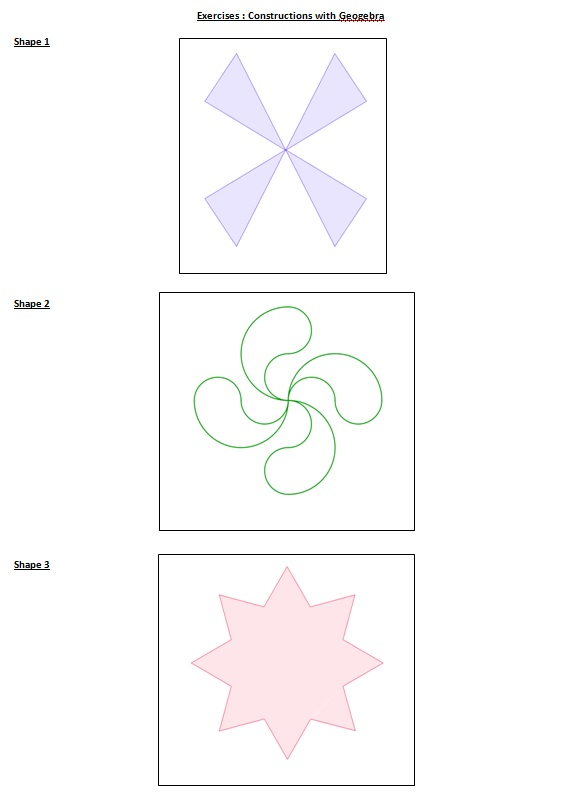 THE GARDENS OF MATHS: Geogebra - Worksheet (France)