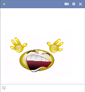 Moving smiley for Facebook