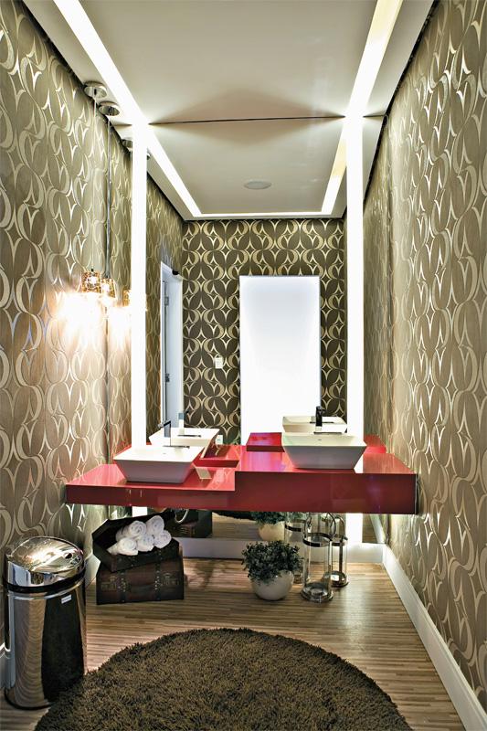 Blog da Decoração Banheiros e lavabos repletos de personalidade -> Banheiros Decorados Na Cor Vermelha