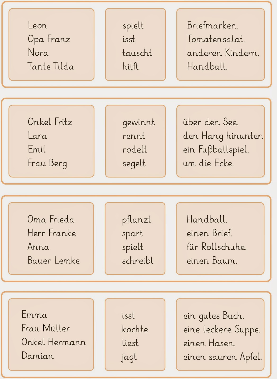 deutsch sätze