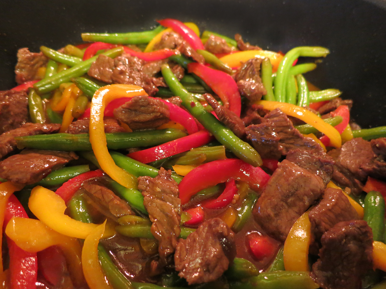 corners of my life garlicky beef stirfry