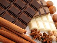 Drei Schokoladensorten