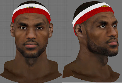 NBA 2K13 LeBron James with Custom Headband Mod