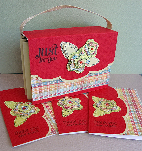 Sewing Box Hugs Compact Sentiments Waltzingmouse Stamps