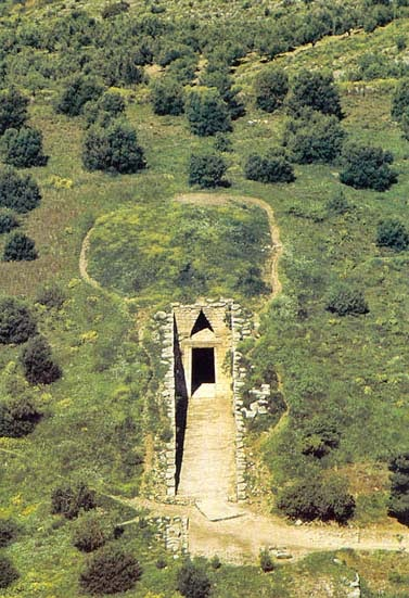 Ancient subterranean infrasound receiver domed tomb of Agamemnon in Mycenae Greece