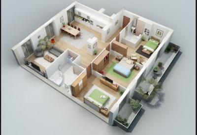 Desain Rumah Minimalis Type 45 3 Kamar Tidur