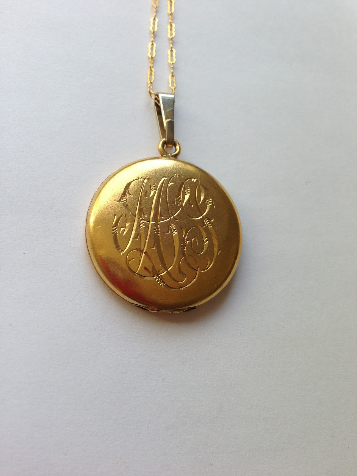 birthstone disc engraved with monogram lockets