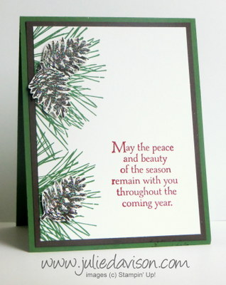 Stampin' Up! Ornamental Pine card idea