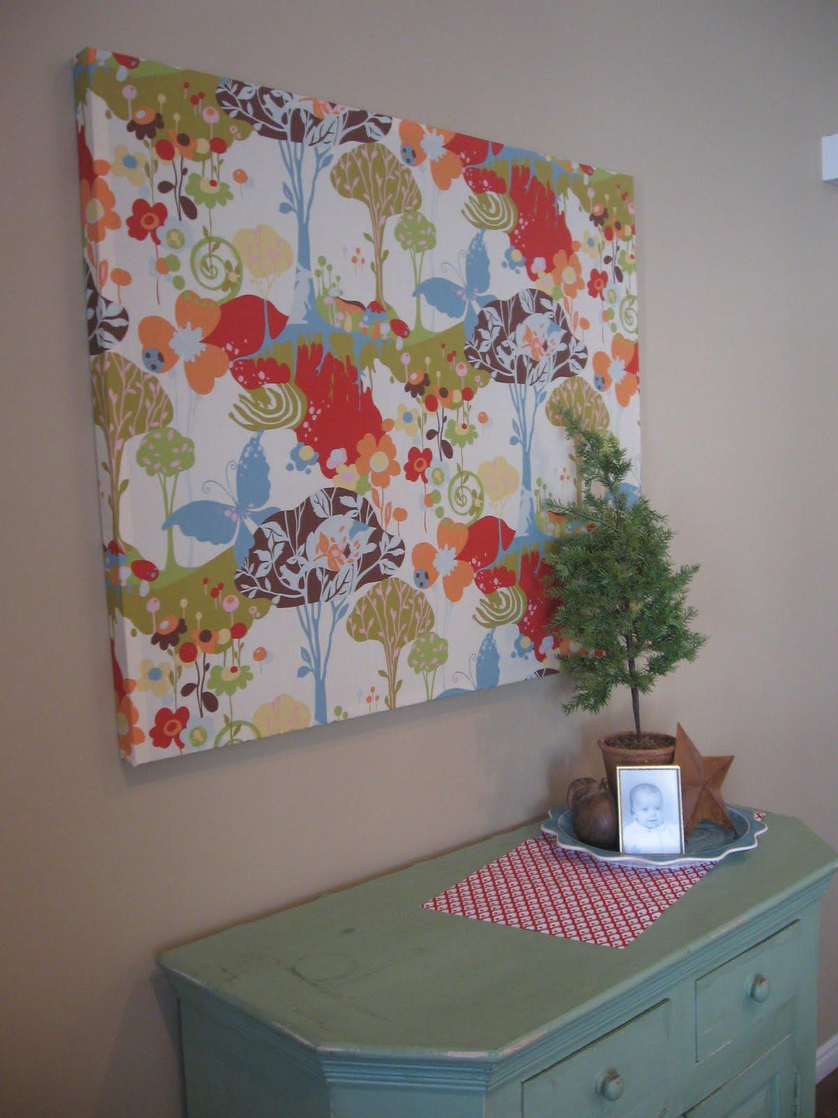 Сделать панно из ткани на стену своими руками
