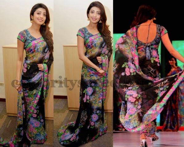 Praneetha Floral Chiffon Saree