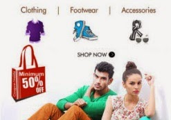 Clothing, Footwears & Accessories Minimum 50% off + upto 38% off || Myntra