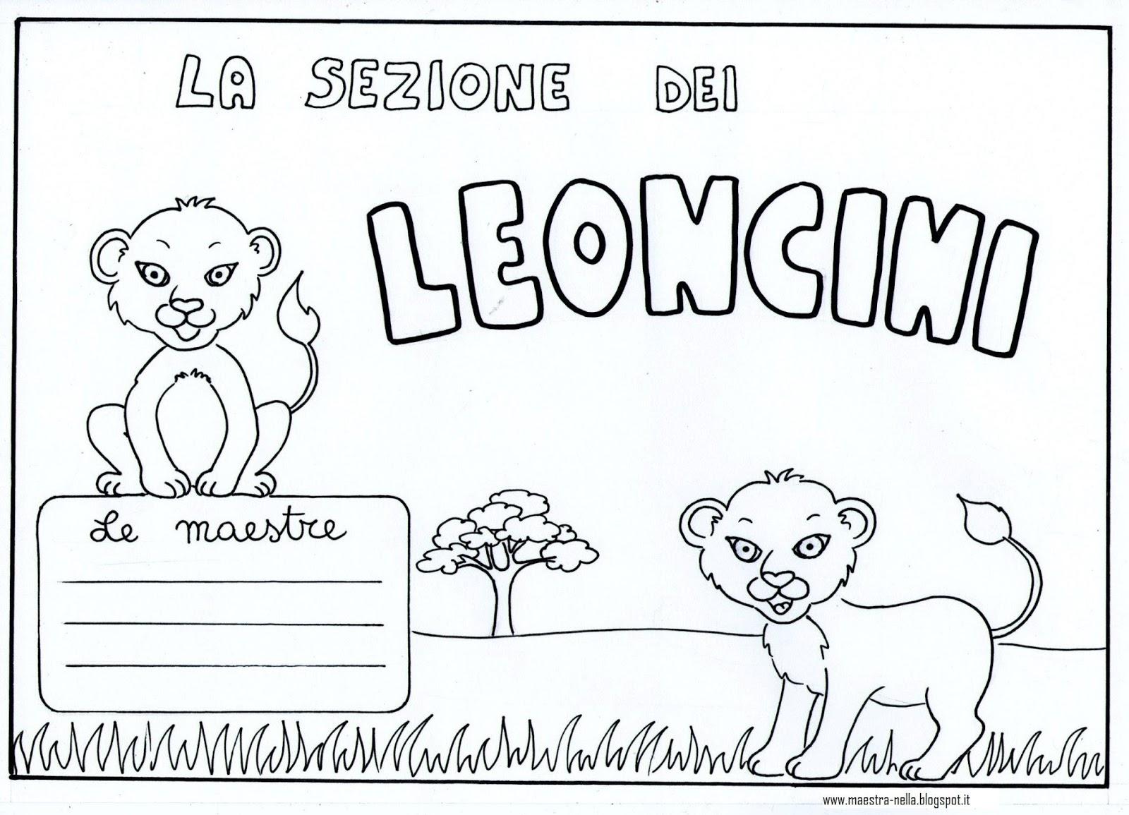 Maestra nella per la porta della sezione cuccioli for Disegni della roma da colorare