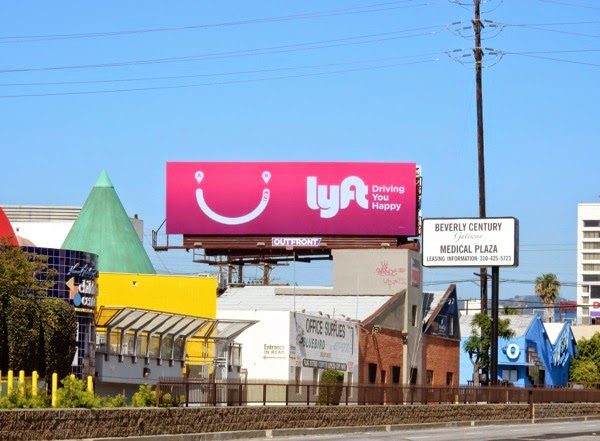 Lyft driving you happy billboard