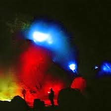 Ijen Crater Blue Fire on The Evening