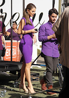 Maria Menounos shows off her super hot body in a tight purple dress