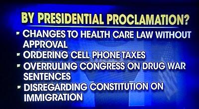 Obama Unconstitutional Actions