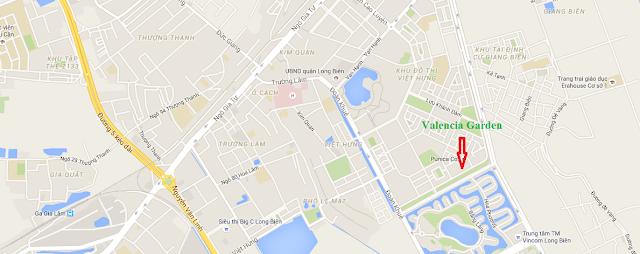 Vị trí đắc địa của Valencia Garden