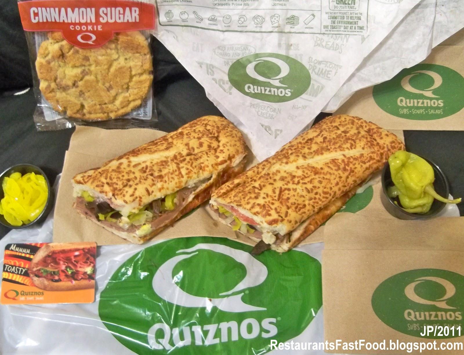 Quiznos Sandwich Shop Salt Lake City Utah Gift Card, Quiznos Fast Food Subs  Sandwich Shop Soups Salad Restaurant Slc Ut East Broadway