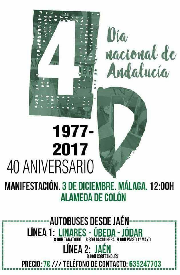 AUTOBUSES DE JAÉN a MÁLAGA para MANIFESTACIÓN 3D