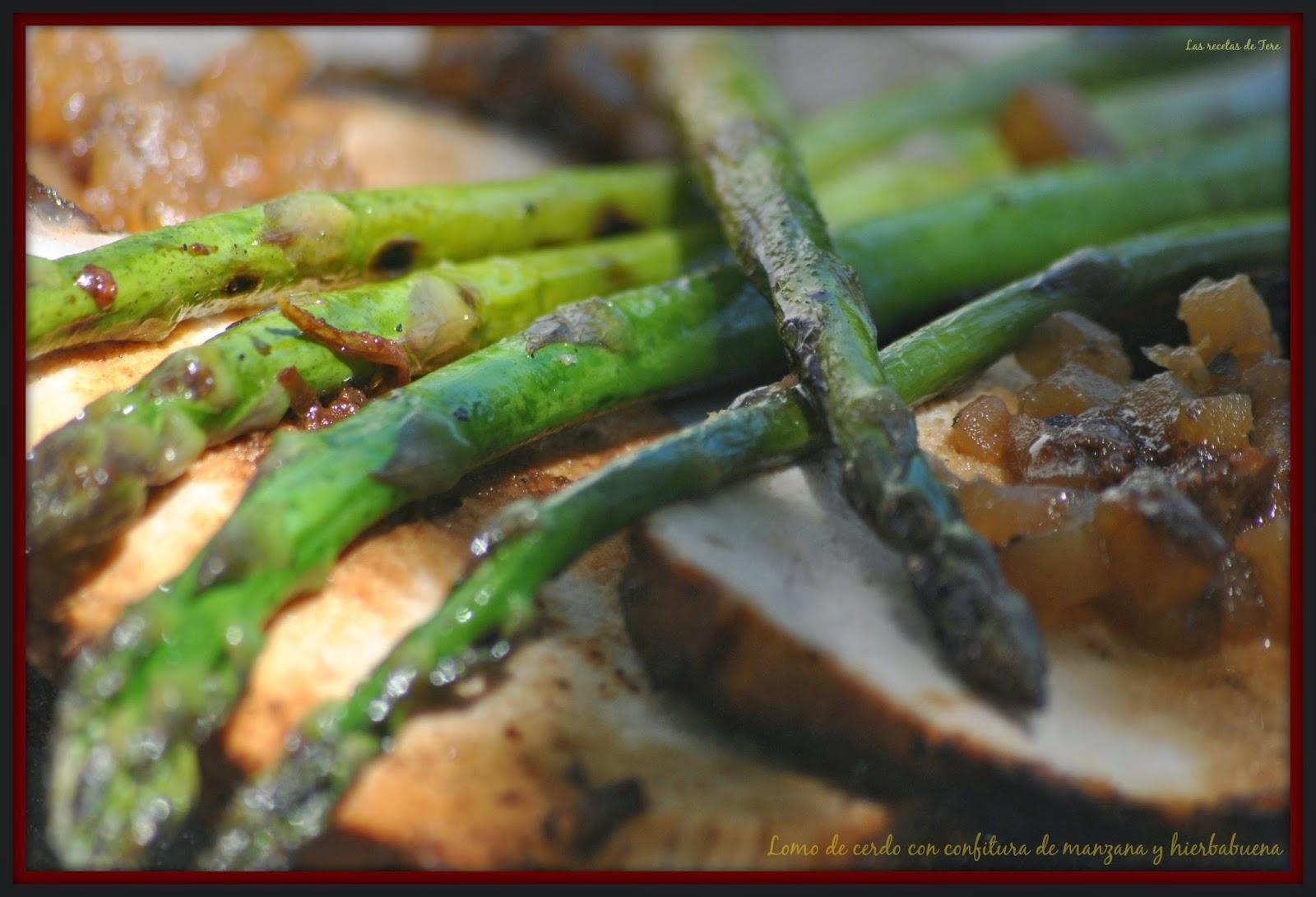 Lomo de cerdo al horno con confitura de manzana y hierbabuena 02