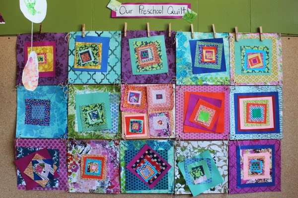 scrumdilly-do! we made a paper quilt you can too!