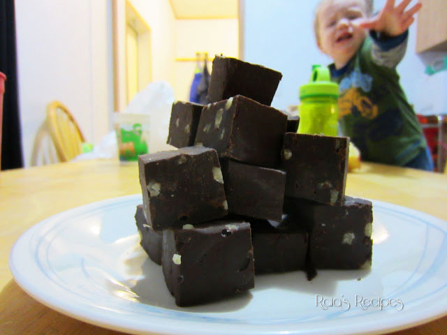 Dark Chocolate Walnut Fudge by Raia's Recipes