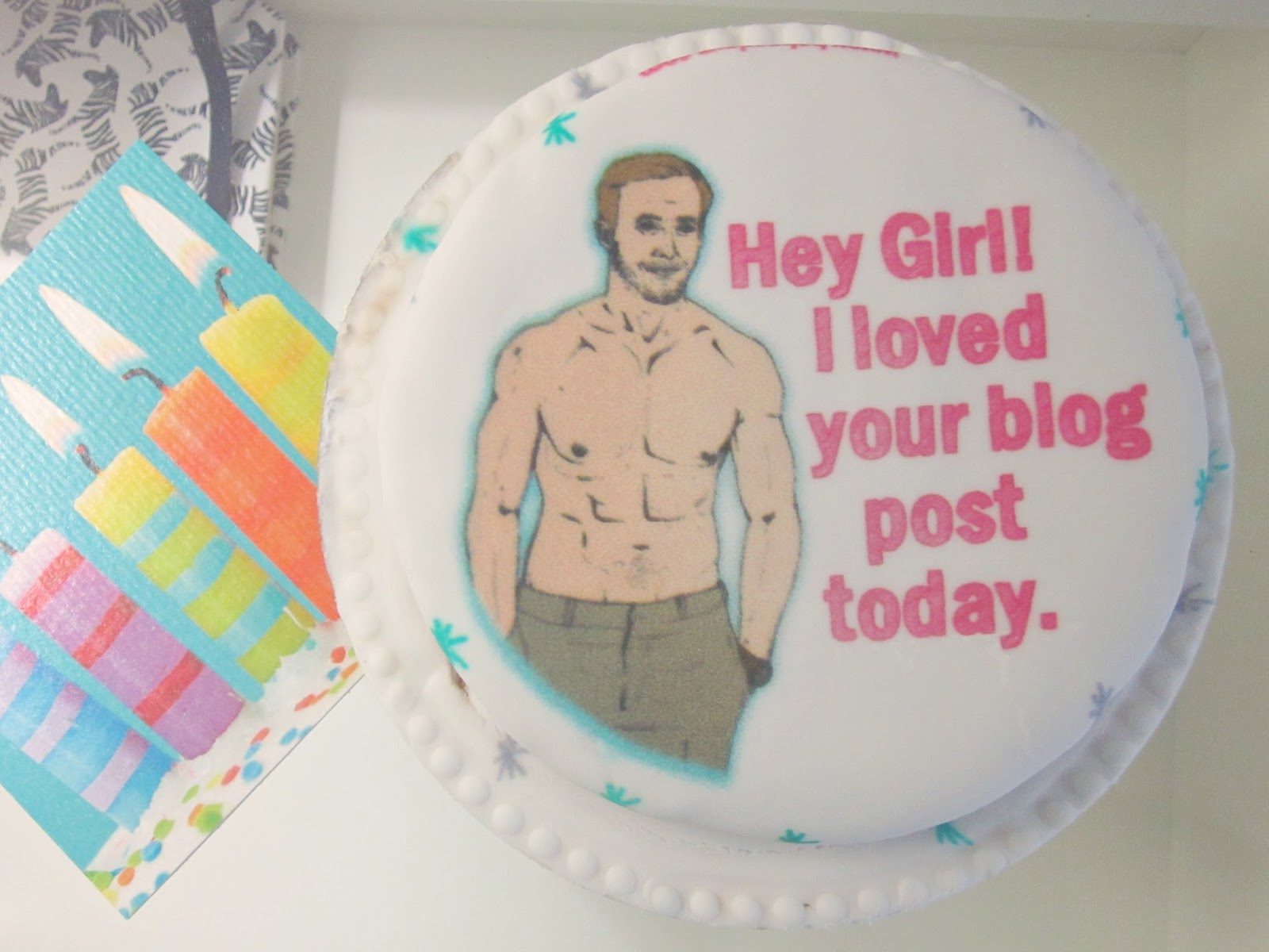 Baker Days Letter Box Cake Ryan Gosling with Hey Girl Meme