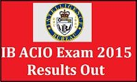 IB ACIO Result 2015