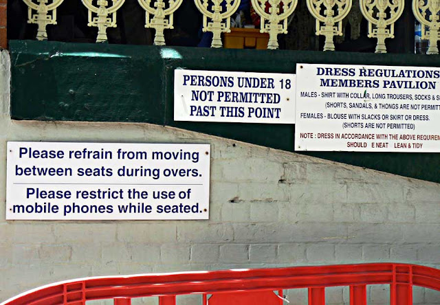 signboard at the Bradman Cricket Stadium in Sydney