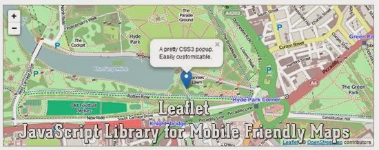 Leaflet – JavaScript Library for Mobile Friendly Maps