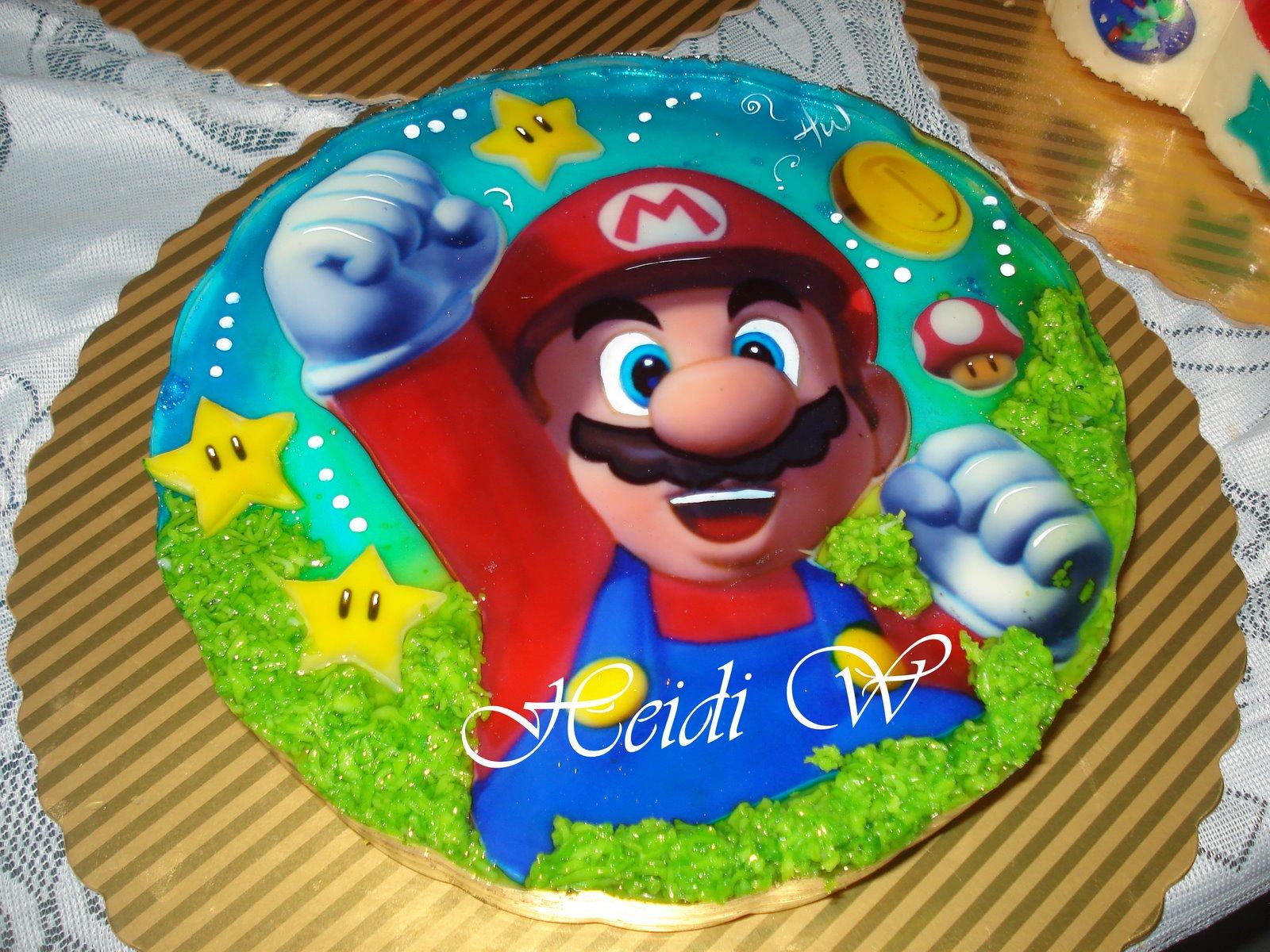 Torta de mario bros car interior design for Tortas decoradas infantiles