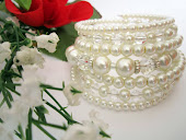 Crystal Pearl Bridal Cuff Bracelet