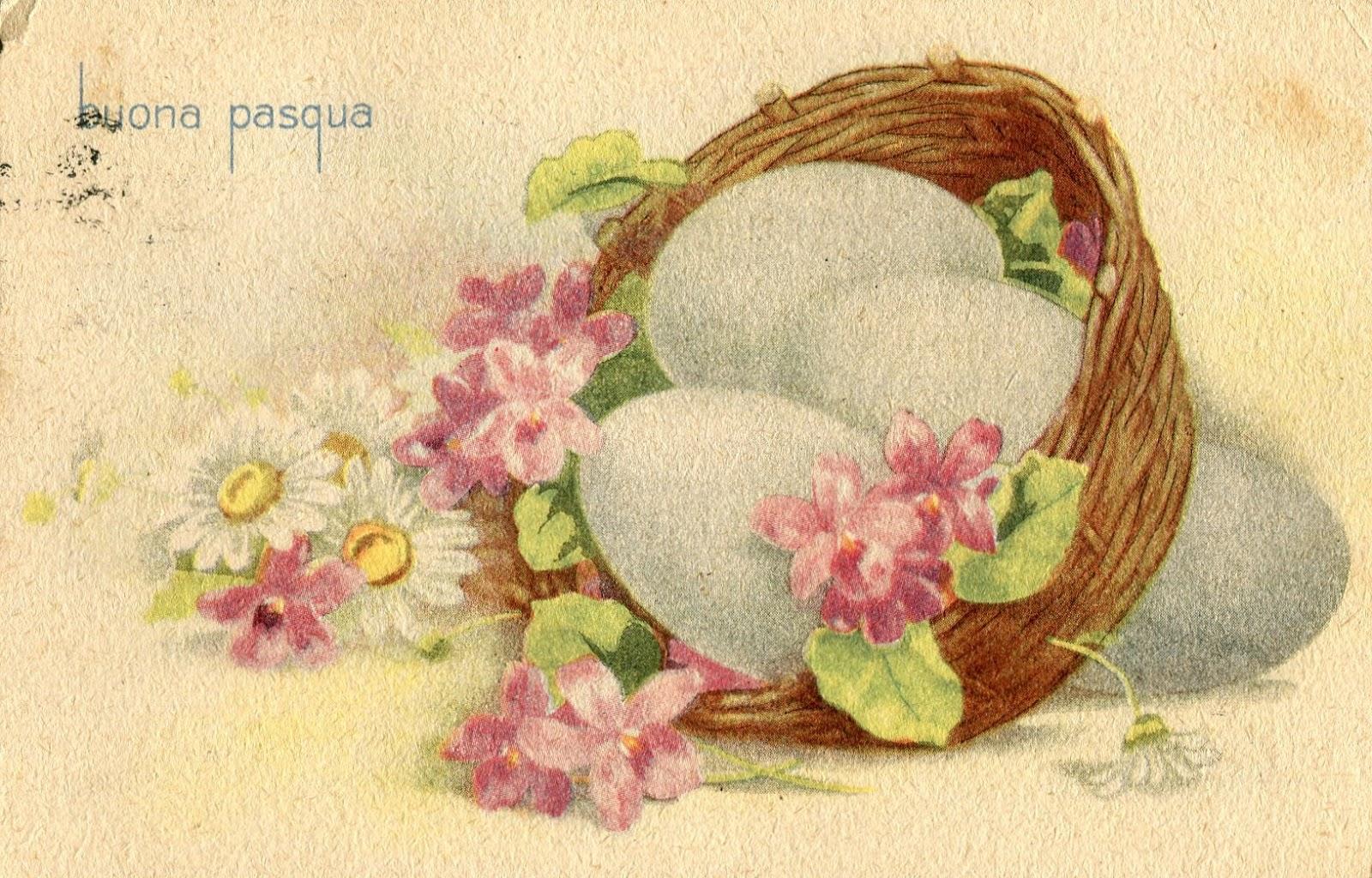 Brocante viola vintage cartoline di pasqua primo 39 900 for Cartoline auguri di buona pasqua