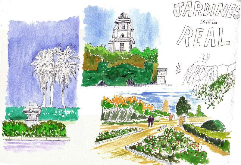Ladrones de cuadernos parques de valencia for Jardines del real valencia