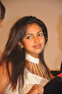 Amla Paul spicy white Top at Vettai Press Meet