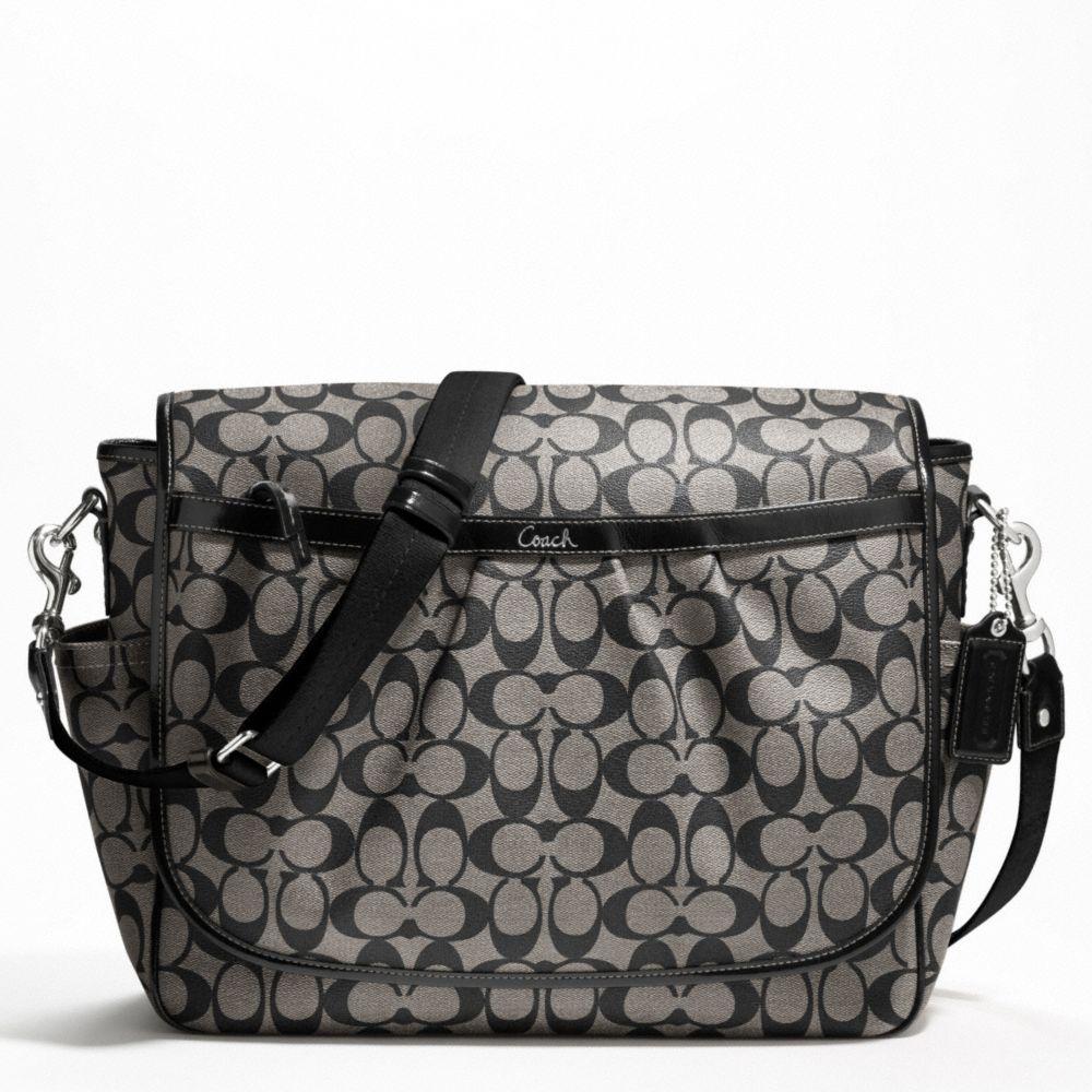 little kiosk coach coated canvas baby bag messenger f18373. Black Bedroom Furniture Sets. Home Design Ideas