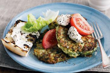 Zucchini & Feta Fritters Recipe
